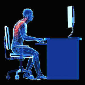 Ergonomics - incorrect seating position